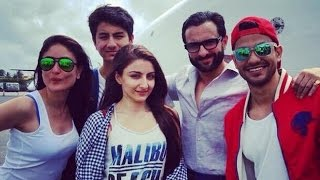 Kareena Kapoor Khan's SUMMER HOLIDAY Photos With Beau Saif Ali Khan & Son Ibrahim Khan