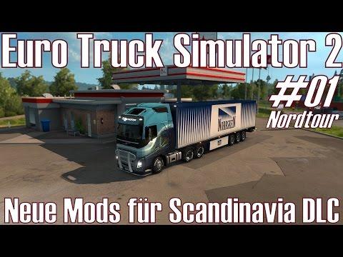 Euro Truck Simulator 2 ★ #01 Nordtour ★ Neue Mods für Scandinavia DLC [Deutsch/HD]