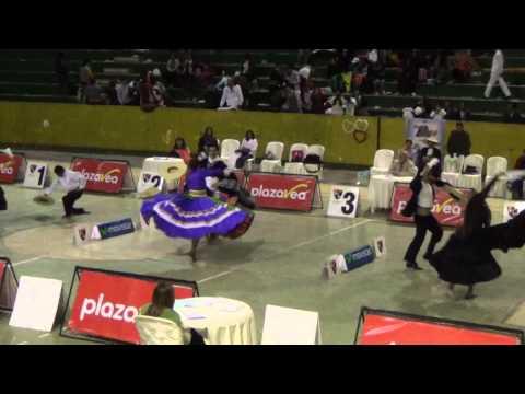Final Adultos, Concurso Selectivo de Marinera Huancayo 2014. Campeones Fiorella y Gerardo