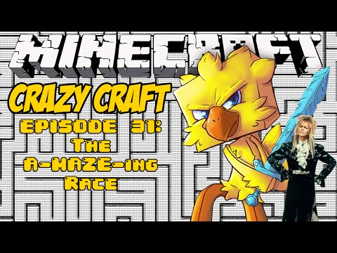 Minecraft Crazy Craft Episode 31: The A-MAZE-ing Race