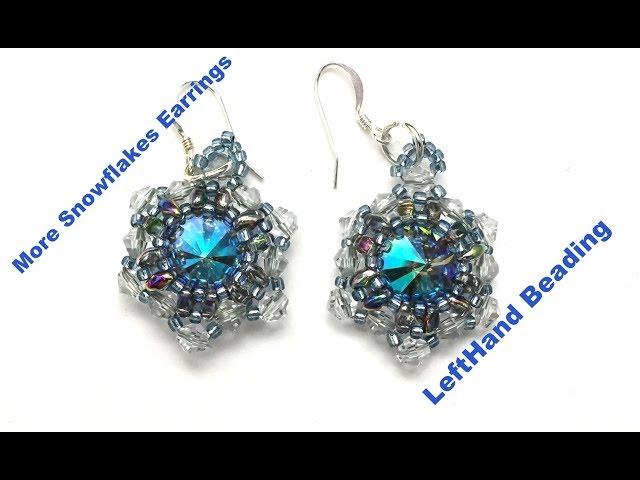 More snowflakes earrings--beading tutorial beginner level
