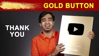 Gold Play Button Unboxing | We Got YouTube Golden Play Button | Thank You For Your Love & Support