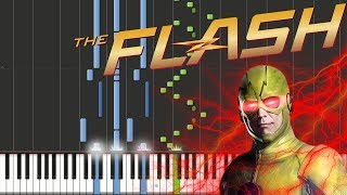 The Flash - Reverse-Flash Theme Piano Tutorial [100% Speed]