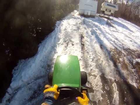 John Deere STX38 Conquers Snowbank