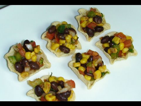 Black Bean &#038; Corn Dip - Vegetarian Appetizers Recipe