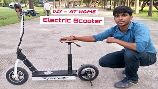 how to make Electric Scooter at home || Creative Science