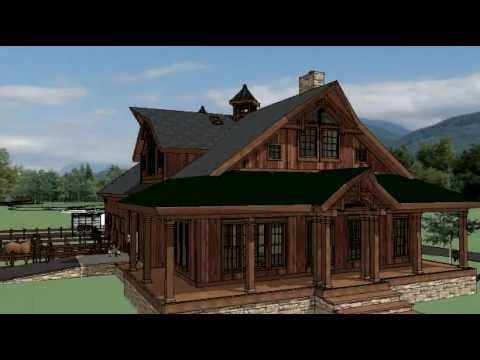 Horse barn w living quarters in washington state youtube for Build on your lot washington state
