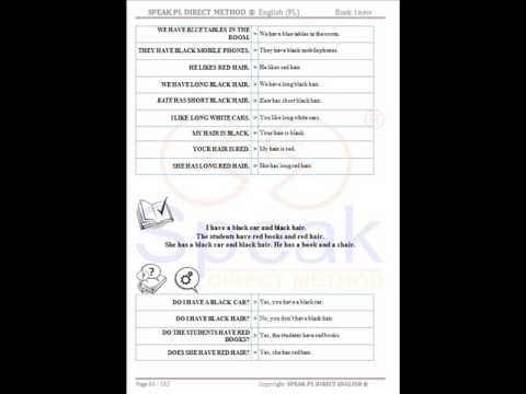 BOOK1 - SPEAK DIRECT METHOD ® English, Polish Version - Skuteczna Nauka Angielskiego