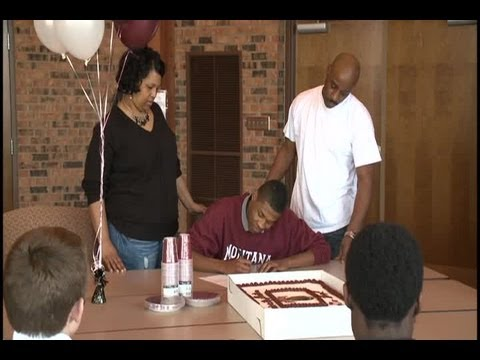 Marq Rogers of Concordia high school signs with Montana Grizzlies football