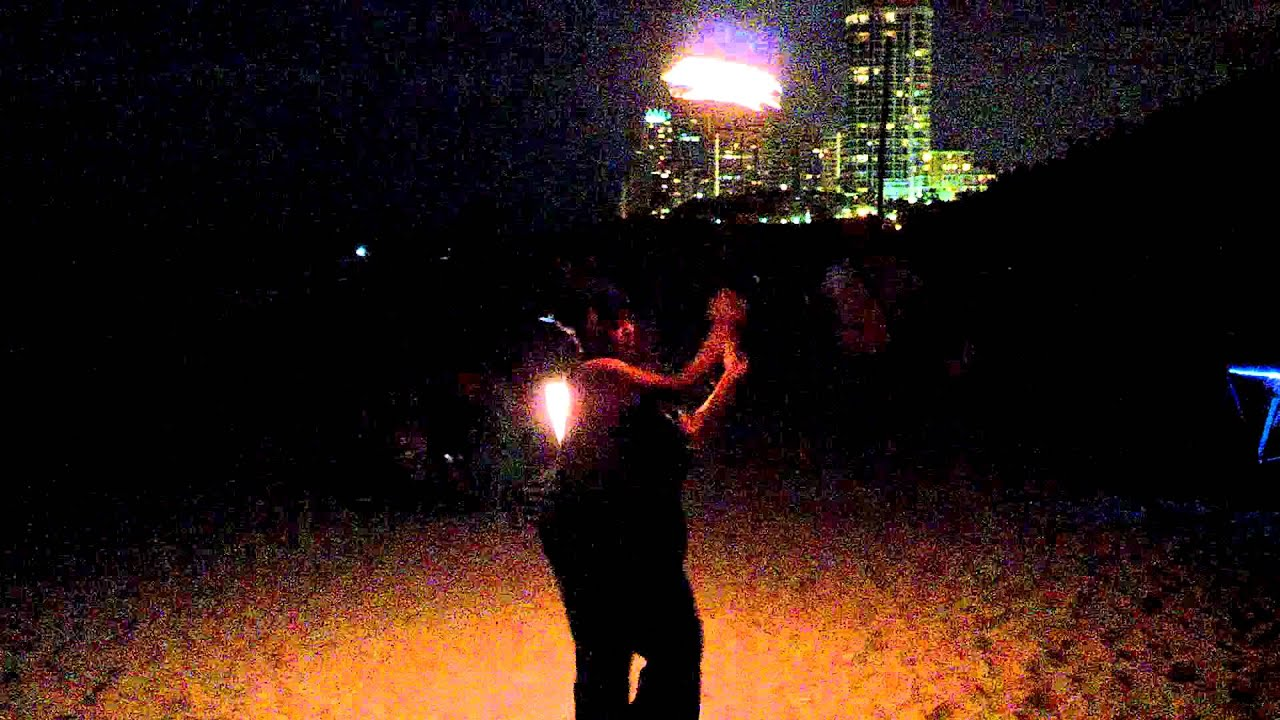 Full Moon Fire Fire Dancing Full Moon Drum