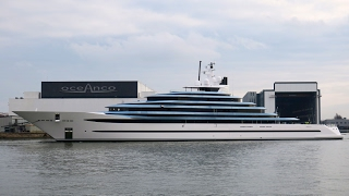 """Oceanco launched Holland's largest yacht today: the 110.1m/ 360'11"""" Y714 / Project Jubliee"""