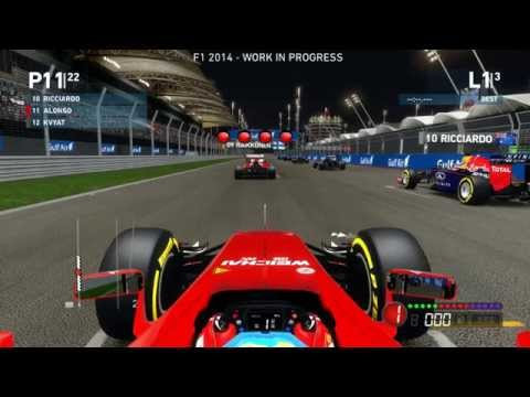 F1 2014 Exclusive Gameplay - Fernando Alonso, Bahrain at Night!