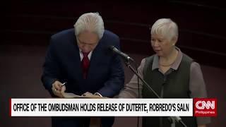 Office of the Ombudsman holds release of Duterte, Robredo's SALN