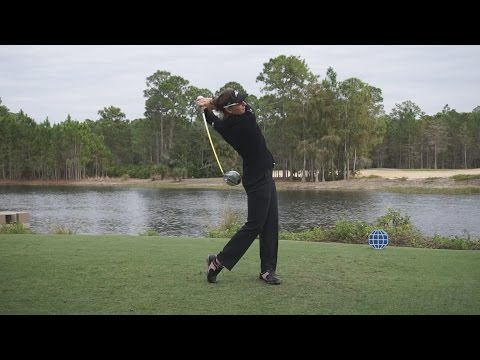 BRITTANY LANG - FACE ON DRIVER SWING REGULAR & SLOW MOTION TIBURON GOLF COURSE 2014 CME 1080p HD