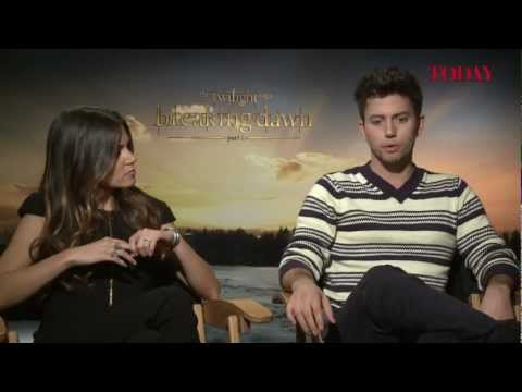 Nikki Reed and Jackson Rathbone speak to TODAY about The Twilight Saga: Breaking Dawn - Part 2