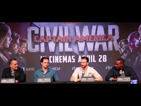 Captain America Civil War Press Conference
