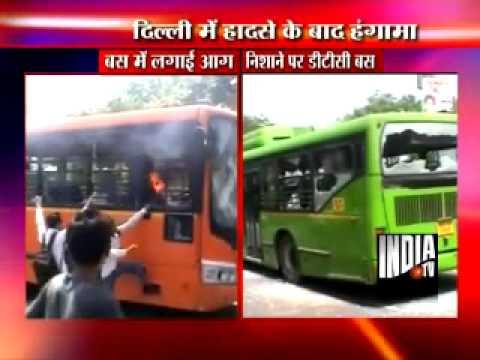 DTC buses set on fire in Delhi