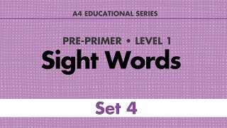 Sight Words - Pre-Primer Set 4