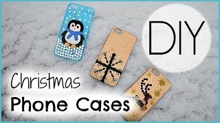 DIY Christmas Phone Cases