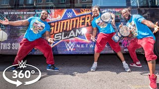 Download 360° VIDEO - The New Day leads a SummerSlam field trip on The Ride 3Gp Mp4