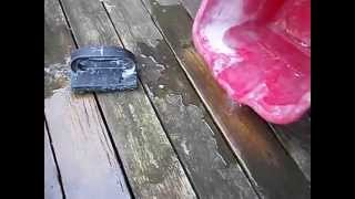 how to clean your deck or patio with vinegar and baking soda, environmentally and pet safe