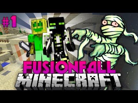 AGGRESSIVE Redstone-MUMIEN?!!? - Minecraft Fusionfall #001 [Deutsch/HD]