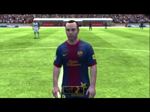 FIFA 13 - Faces Barcelona e Real Madrid