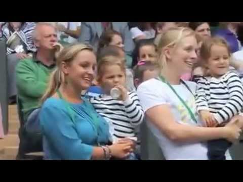 Roger Federer's Twin Daughters at Wimbledon 2012 QF