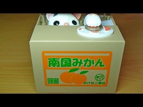 Кот-воришка.Японская копилка.Посылка с Aliexpress.