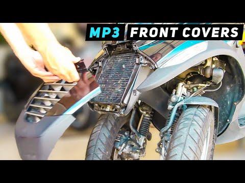 Piaggio MP3 - Front Leg Shield Cover / Headlight Removal