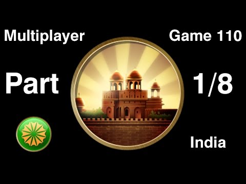 Civilization 5 Multiplayer 110: India [1/8] ( BNW 5 Player Free For All) Gameplay/Commentary