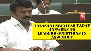 Minister Talasani Srinivas Yadav Answers To Leaders Questions In Assembly - TS Budget Sessions  - netivaarthalu.com