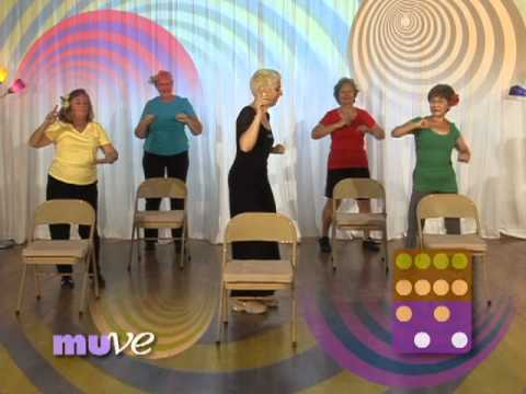 Senior Dance Exercise Behind A Chair - Beginner Dance Exercise Dvd For Older Adults And Elderly video