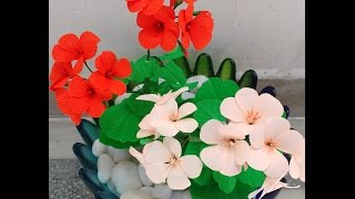 How to make Paper Flowers Geranium / Cranesbills(Flower # 75)