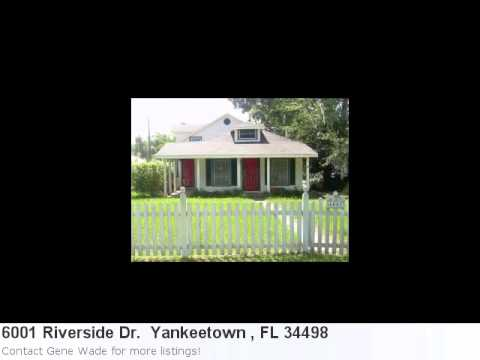 Real Estate Listing For Yankeetown , Fl- 6001 Riverside Dr.