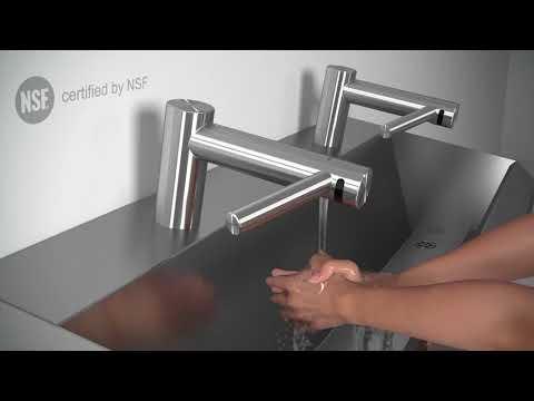 TECHNIK hygienic sinks with Dyson Airblade Tap Hand Dryer