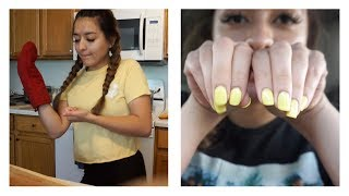 daily vlog // announcement + getting my nails done