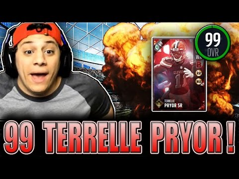 ULTIMATE TICKETS GETTING IN THE ENDZONE! (99 TERRELLE PRYOR GAMEPLAY) - MADDEN 17 ULTIMATE TEAM