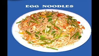 Chinese Egg Noodles Recipe   Restaurant Style