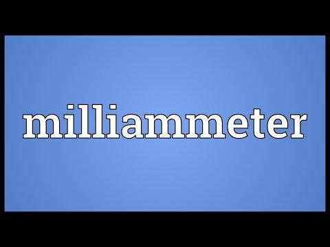 Header of milliammeter