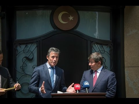 NATO Secretary General with Minister of Foreign Affairs of Turkey - Joint Press Point, 16 Jun 2014