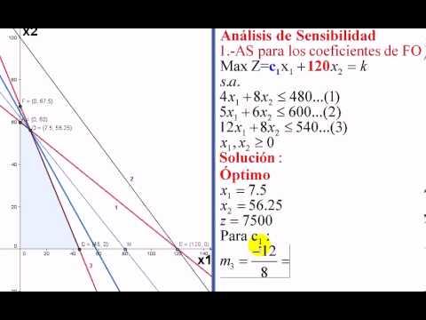 analisis de sensibilidad metodo grafico 1