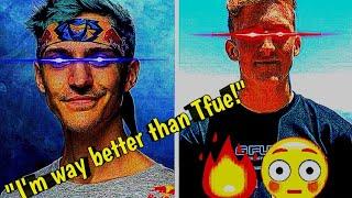 Ninja 1V1's Tfue in Fortnite and Ninja gets mad!