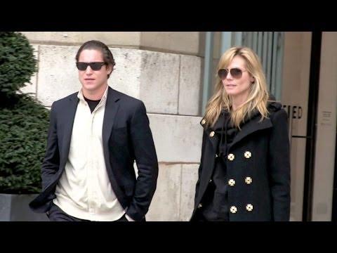 Heidi Klum and boyfriend Vito Schnabel art gallery and jewellery store in Paris