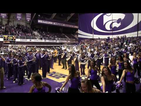 K-State Marching Band surprises crowd at KU vs KSU volleyball match