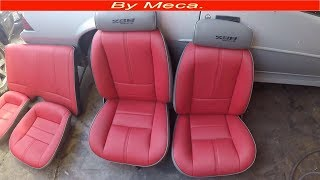 Camaro part 7-9.  How to upholster bucket seat, make seat cover