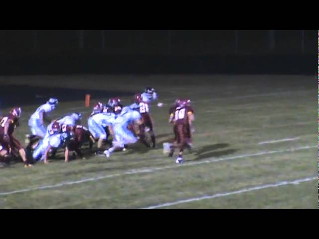 9-30-11 - Connor Weisser plunges it in from a yard out (Brush 28, Platte Valley 0)