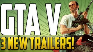 GTA V NEWS - 3 NEW TRAILERS ANNOUNCED!! [Michael, Franklin & Trevor]
