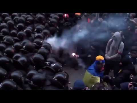 Civil War in Ukraine - Riots against Police