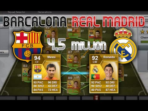 FIFA 13 - Ultimate Team - Barcelona/ Real madrid Hybrid Squad (ft. Messi, Ronaldo)